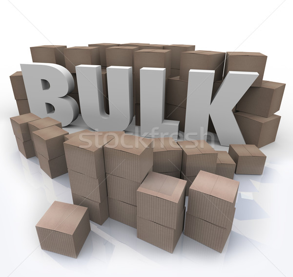 Stock photo: Buy in Bulk Word Many Boxes Product Volume Quantity