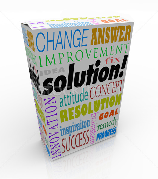 Off the Shelf Solution Product Box New Idea Answer Stock photo © iqoncept