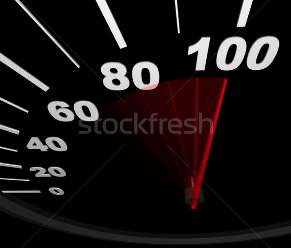 Speedometer - Racing to 100 MPH Stock photo © iqoncept