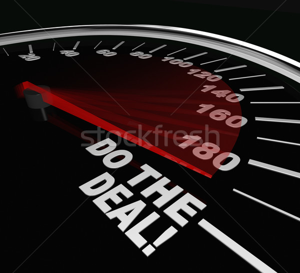 Do the Deal Close Sale Finalize Contract Speedometer Stock photo © iqoncept