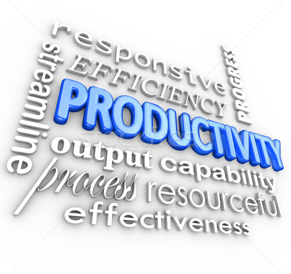 Produktiviteit rendement gestroomlijnd procede effectief woord Stockfoto © iqoncept
