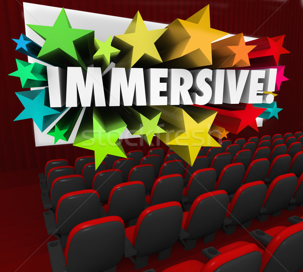 Immersive Movie Entertainment Experience Sensation Viewing Stock photo © iqoncept