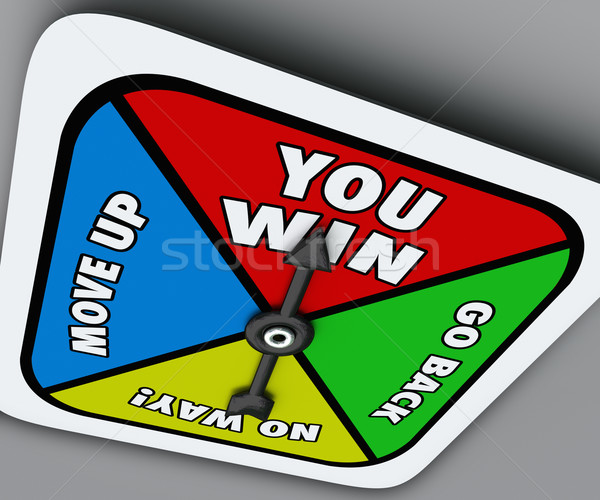 You Win Board Game Spinner Competition Victory Lucky Move Stock photo © iqoncept