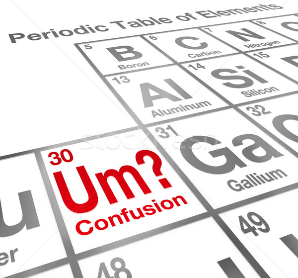 Um Element of Confusion Periodic Table Difficult Understanding M Stock photo © iqoncept