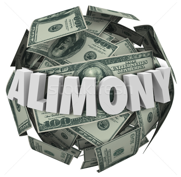 Alimony Word 3d Money Ball Financial Obligation Ex Spousal Suppo Stock photo © iqoncept