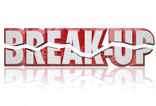 Break-Up 3d Words Divorce Separation Split Partnership Stock photo © iqoncept