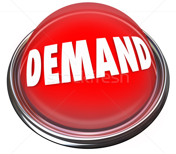 Demand Red Button Increase Customer Response Support New Product Stock photo © iqoncept