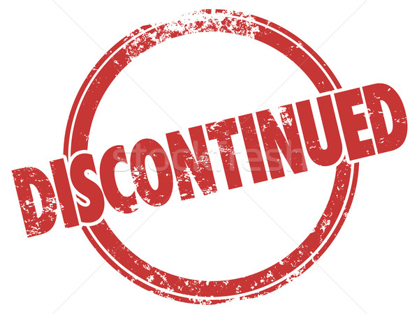 Discontinued Red Grunge Style Stamp Out of Stock Cancelled Produ Stock photo © iqoncept