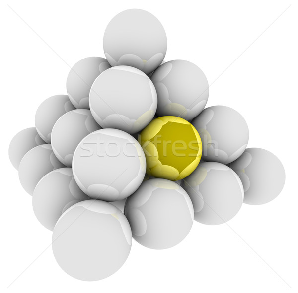 Arany labda egyedi különböző különleges piramis Stock fotó © iqoncept