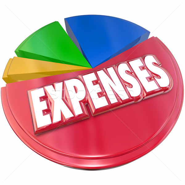 Expenses Red Pie Chart 3d Tracking Costs Budget Spending Stock photo © iqoncept