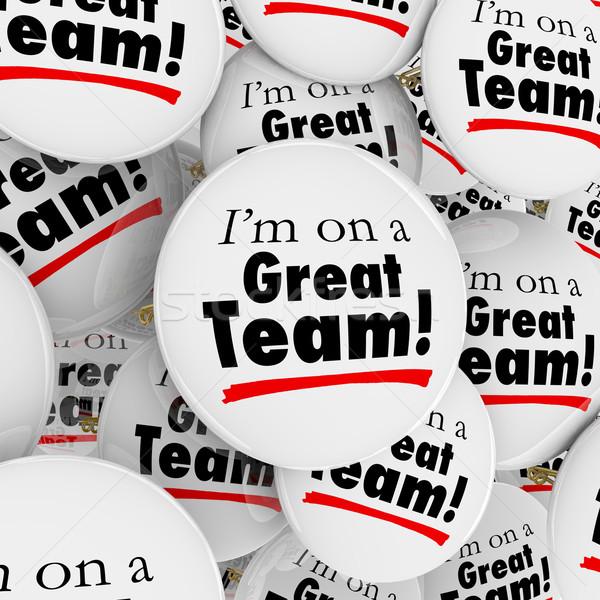 Magnifique équipe boutons groupe fierté Photo stock © iqoncept
