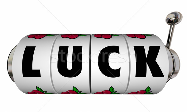 Luck Slot Machine Wheels Dials Word Casino Gambling Betting Win  Stock photo © iqoncept