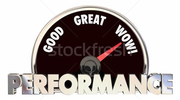Performance Review Score Measurement Level 3d Illustration Stock photo © iqoncept