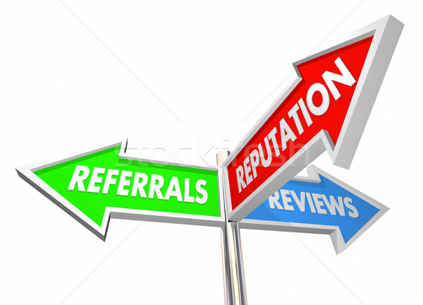 Referrals Reviews Reputation Business Growth 3d Illustration Stock photo © iqoncept