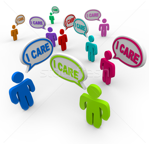 I Care People Friends Support Group Empathy Sympathy Stock photo © iqoncept