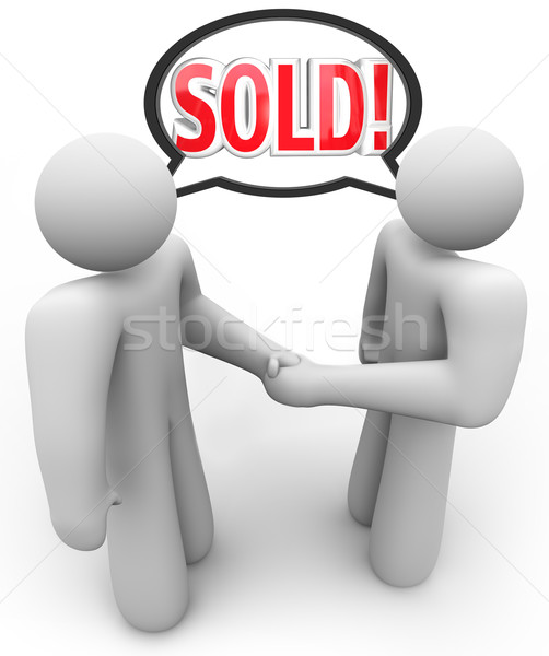 Sold Buyer Seller Salesperson Customer Handshake Stock photo © iqoncept
