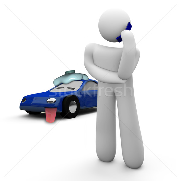 Stock photo: Broken Down Car - Call for Help