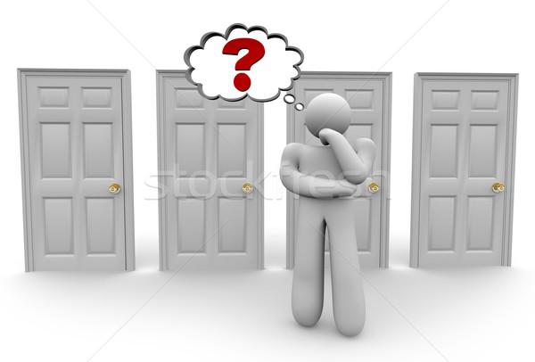 Deciding Which Door to Choose 2 Stock photo © iqoncept