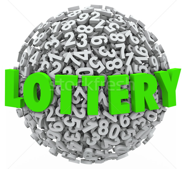Lottery Word Number Ball Sphere Gambling Jackpot Stock photo © iqoncept