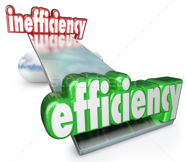 Efficiency Vs Inefficiency See-Saw Balance Productive Effective  Stock photo © iqoncept