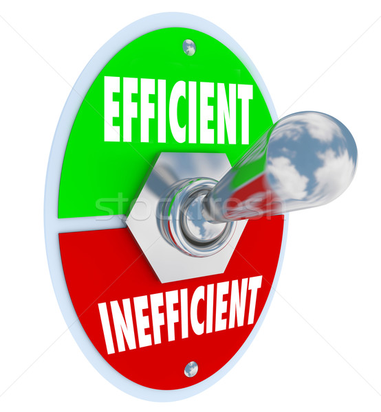 Efficient Vs Inefficient Toggle Switch Better Competitive Advant Stock photo © iqoncept