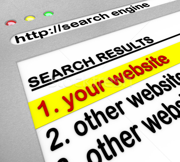 Search Engine Results - Your Site Number One Stock photo © iqoncept