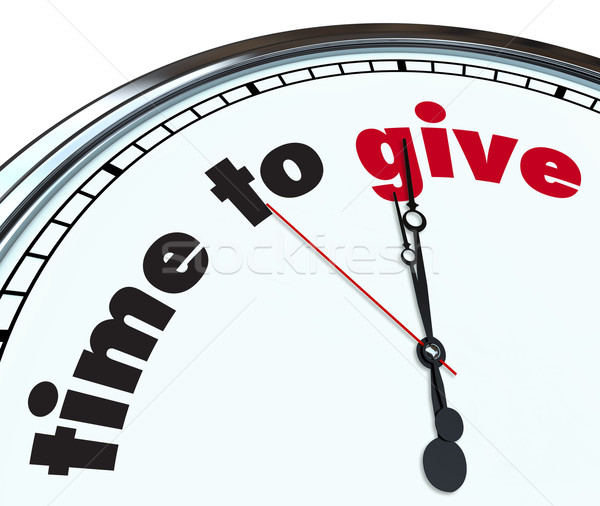 Time to Give - Ornate Clock Stock photo © iqoncept