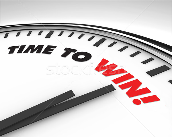 Time to Win - Clock Stock photo © iqoncept