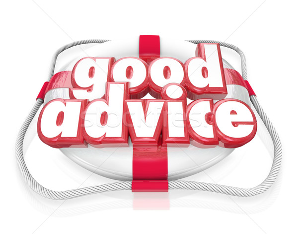 Good Advice Words Life Preserver Emergency Help Tips Stock photo © iqoncept