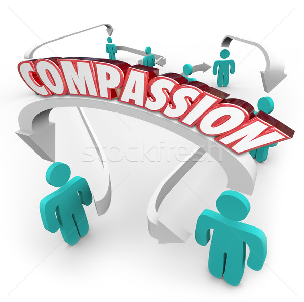 Compassion Connected People Showing Sympathy Empathy for Each Ot Stock photo © iqoncept