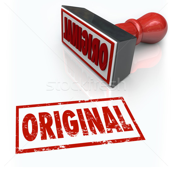 Original Word Stamp First Innovation Creative Originality Unique Stock photo © iqoncept