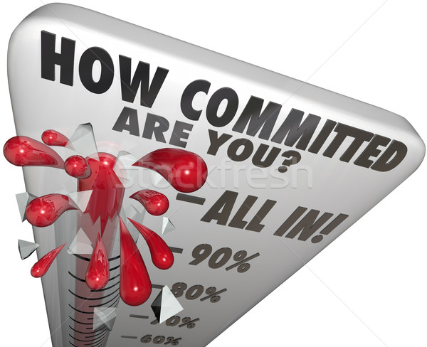 How Committed Are You Thermometer Measure Commitment Level Stock photo © iqoncept