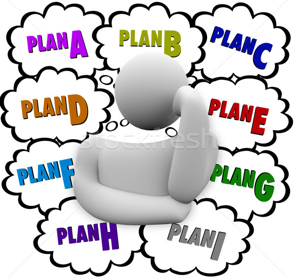 Plan A B C Different Change Strategies Try Again Stock photo © iqoncept