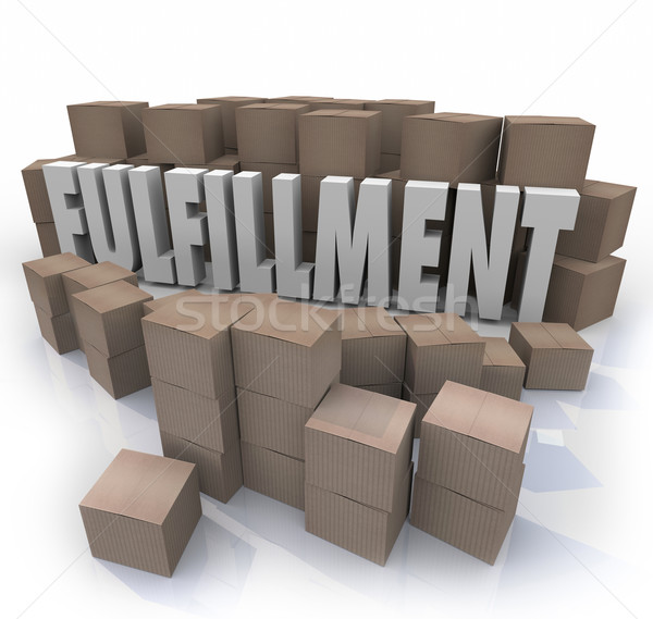 Fulfillment Cardboard Boxes Shipping Orders Warehouse Shipments Stock photo © iqoncept