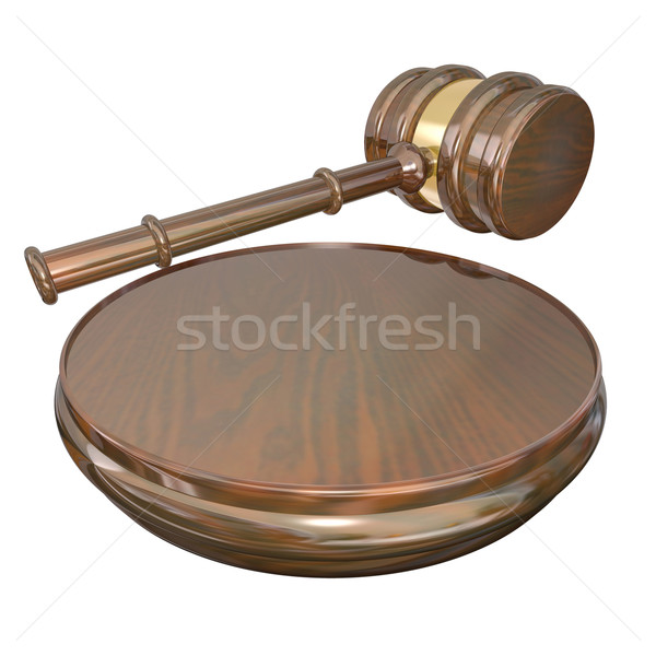Verdict Judge Gavel Court Lawsuit Case Final Decision Stock photo © iqoncept