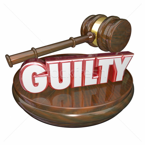 Guilty Word Judge Gavel Conviction Verdict Stock photo © iqoncept