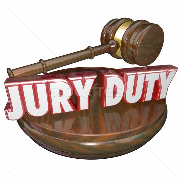 Jury Duty Judge Gavel Court Trial  Stock photo © iqoncept