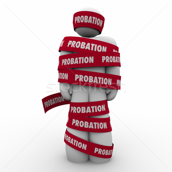 Probation Man Wrapped in Tape Restricted Limited Movement Stock photo © iqoncept