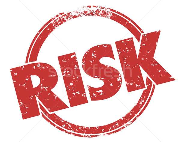 Risk Word Red Grunge Stamp Danger Warning Liability Stock photo © iqoncept