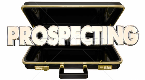 Prospecting Find New Customers Sell Sales 3d Words Briefcase Stock photo © iqoncept