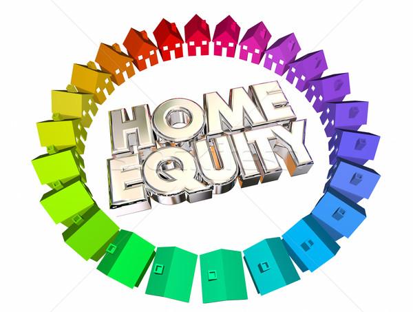 Otthon tőke jelzálog érték nyereség egyensúly Stock fotó © iqoncept