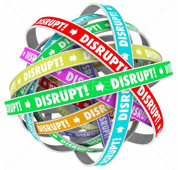 Disrupt Change Upset Status Quo Loop Process 3d Illustration Stock photo © iqoncept