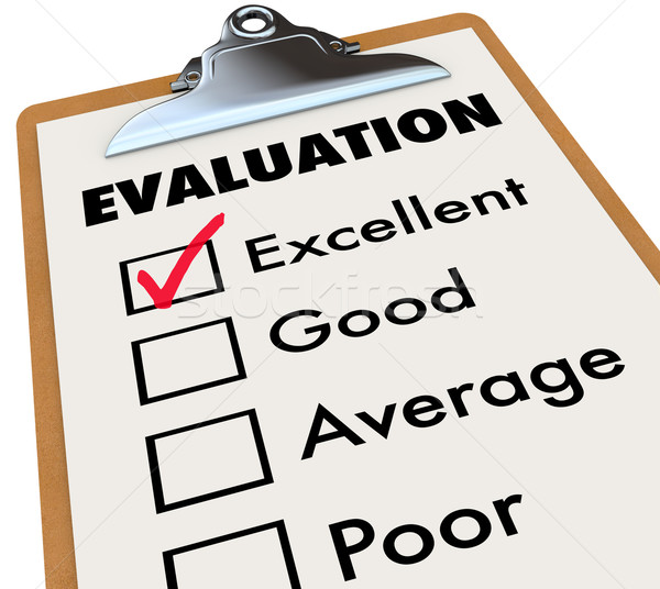 Evaluation Report Card Clipboard Assessment Grades Stock photo © iqoncept