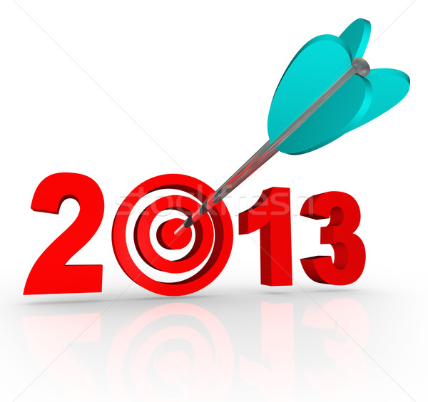 2013 New Year Arrow in Number Target Stock photo © iqoncept