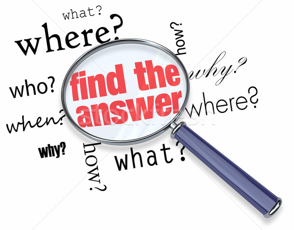 Stock photo: Find the Answer - Magnifying Glass
