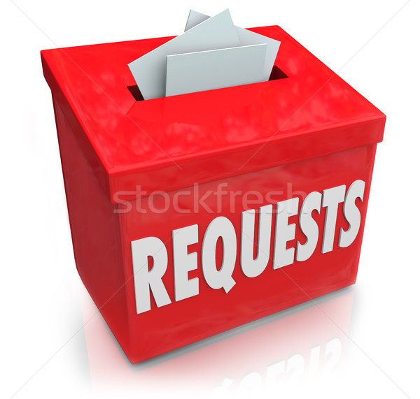 Requests Suggestion Box Wants Desires Submit Ideas Stock photo © iqoncept
