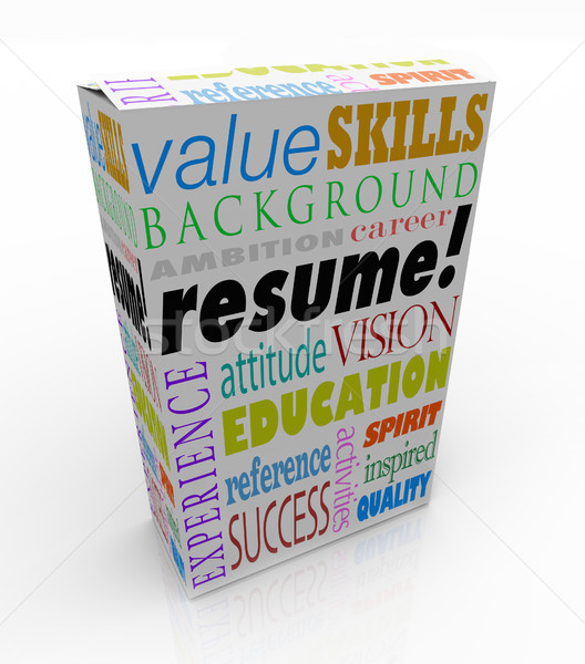 Resume Word Product Box Best Candidate Experience Background Stock photo © iqoncept