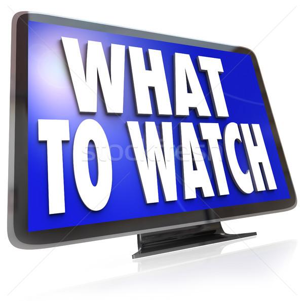 Co oglądać hdtv telewizji ekranu sugestia Zdjęcia stock © iqoncept