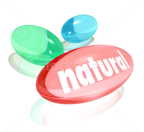 Natural Organic Supplements Vitamins Healthy Life Improvement Stock photo © iqoncept