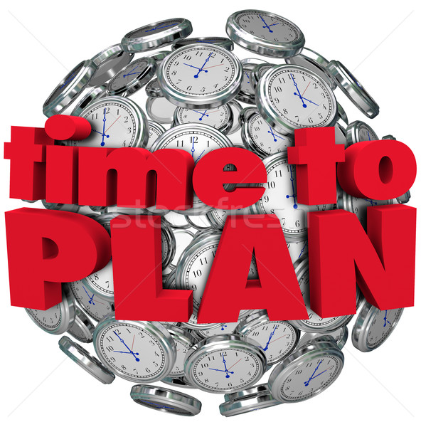 Time to Plan Clock Sphere Planning for Goal Achievement Stock photo © iqoncept